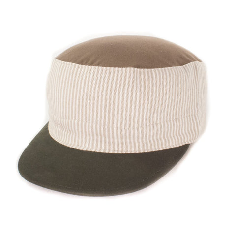 Oldhat #7309, Cadet hat, handmade with recycled material