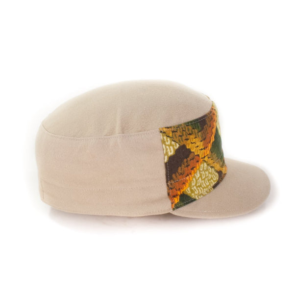 Oldhat #9345, Cadet hat, handmade with recycled material