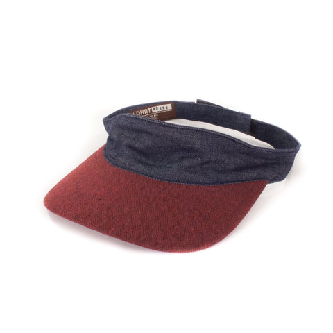 Oldhat #9656, Visor hat, handmade with recycled material