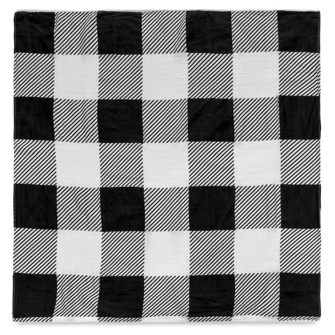 Cotton Muslin Swaddle Blanket - Plaid