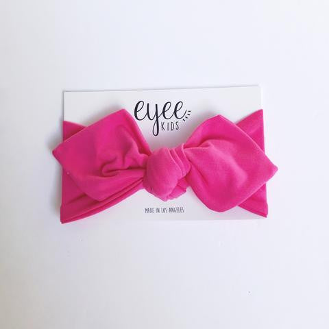 Top Knot Headband - Bubblegum Pink