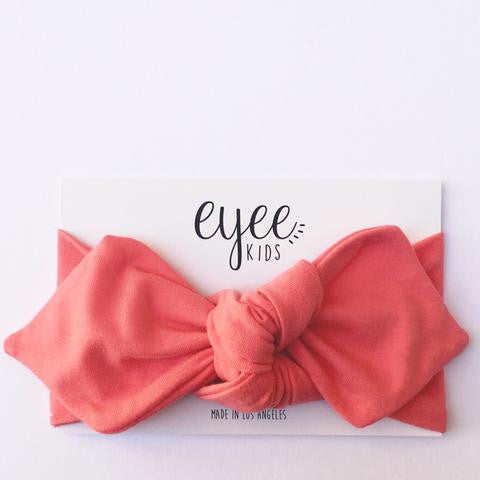 Top Knot Headband - Coral