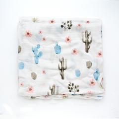 Cactus Floral Bamboo Swaddle