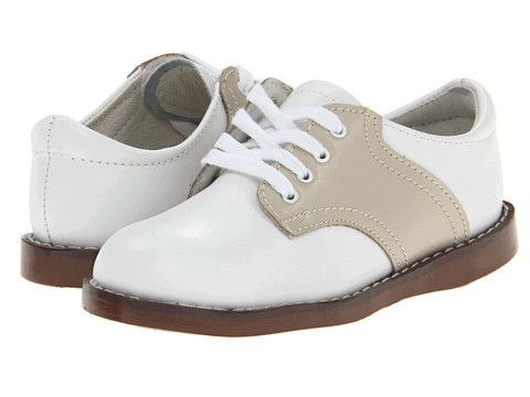 L'Amour Two Tone Saddle Shoe- White and Beige