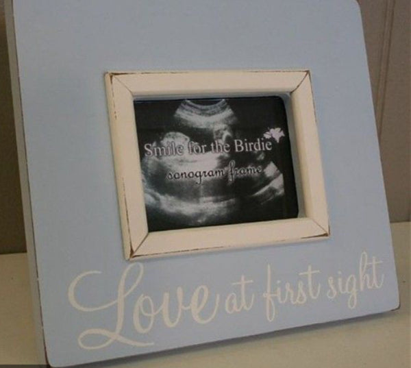 Love at First Sight Sonogram Frame in Blue