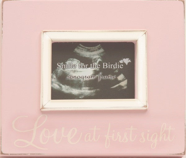 Love at First Sight Sonogram Frame in Pink