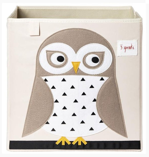 3 Sprouts Storage Box- Owl