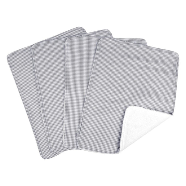 Trend Lab Burp Cloth Set in Gray Gingham