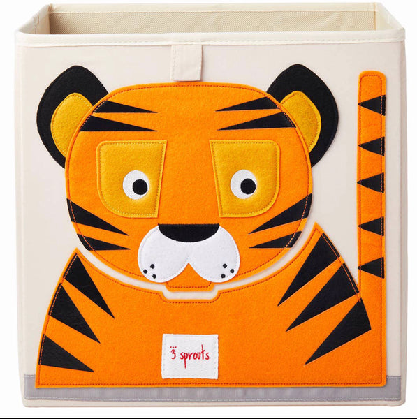 3 Sprouts Storage Box- Tiger