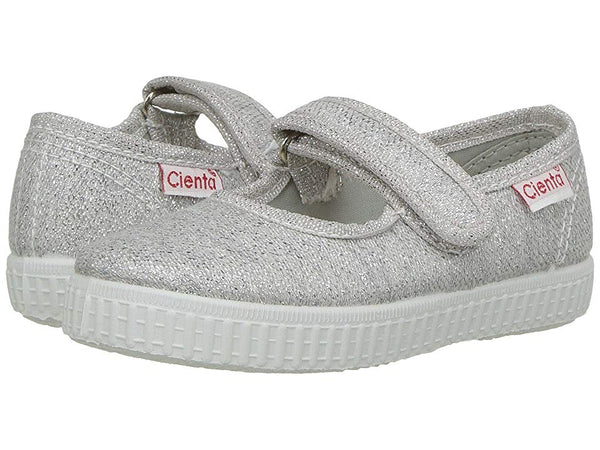 Cienta Silver Sparkle Mary Jane