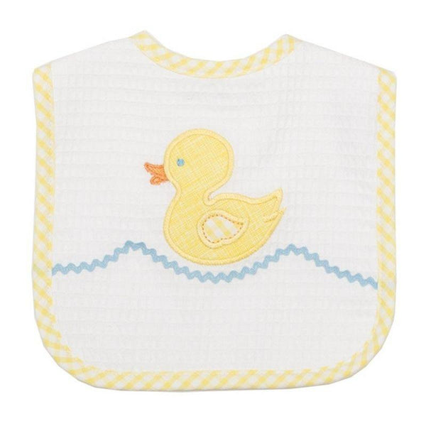 3 Marthas Applique Bib in Duck