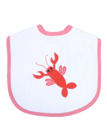 3 Marthas Applique Bib in Crawfish