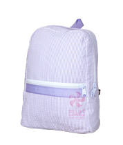 Oh Mint! Backpack in Lilac Seersucker