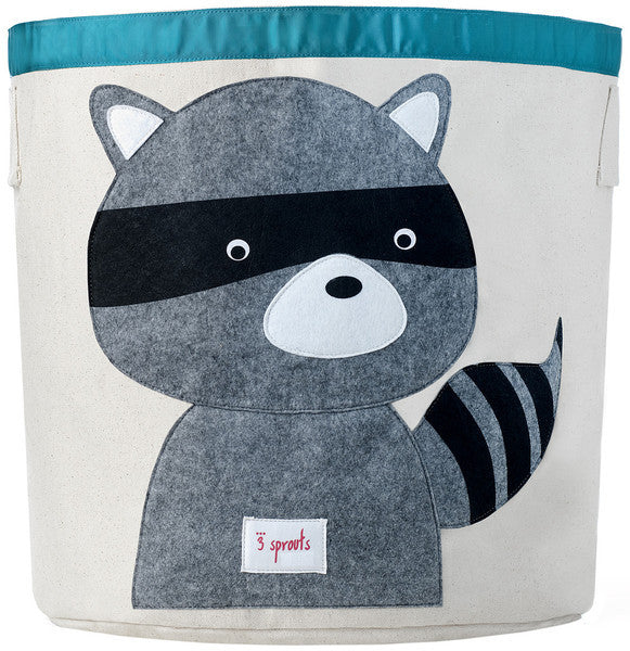 3 Sprouts Storage Bin- Raccoon