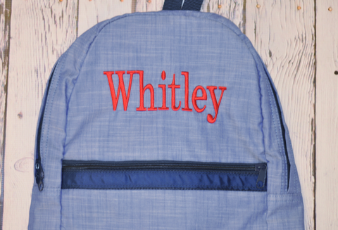 Oh Mint! Backpack in Navy Chambray