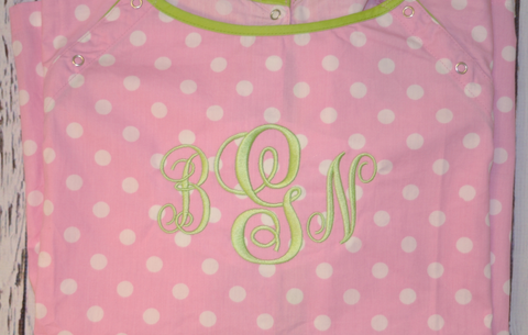 Gownies Hospital Gown in Pink Dot