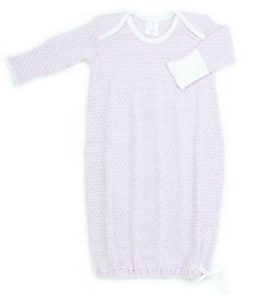 Paty Gown in Lavender & White Stripe
