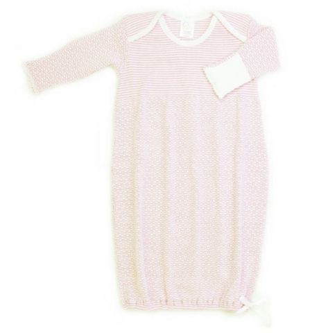 Paty Gown in Pink & White Stripe