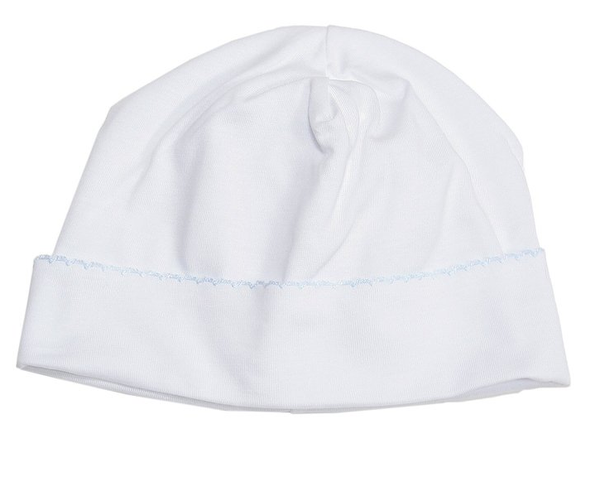 Kissy Kissy Knit Hat- White/Blue