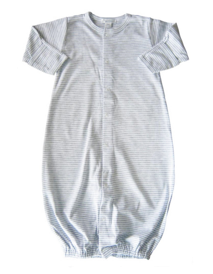 Kissy Kissy Converter Gown- Gray Stripe