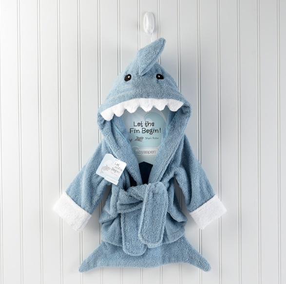 Baby Aspen Robe Shark Gray