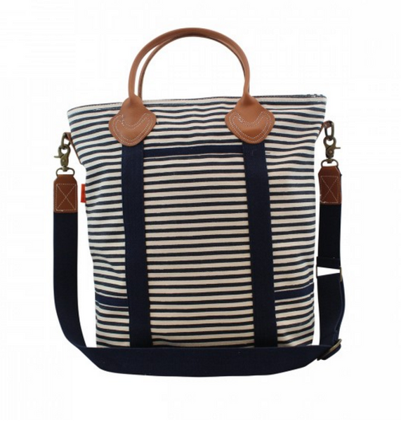 Flight Bag in Navy Stripes