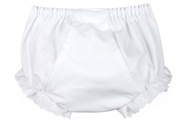 Girl Bloomers Plain White