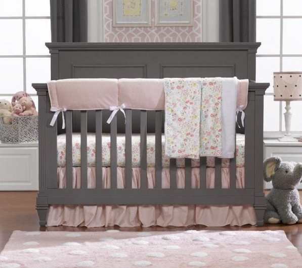 Liz & Roo Bumperless Set in Petal Pink Linen