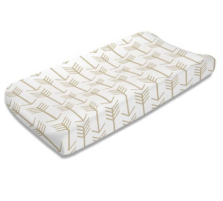 Liz & Roo Changing Pad Cover in Tan Arrows