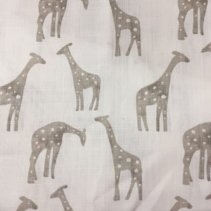 Liz & Roo Crib Sheet in Taupe Giraffe