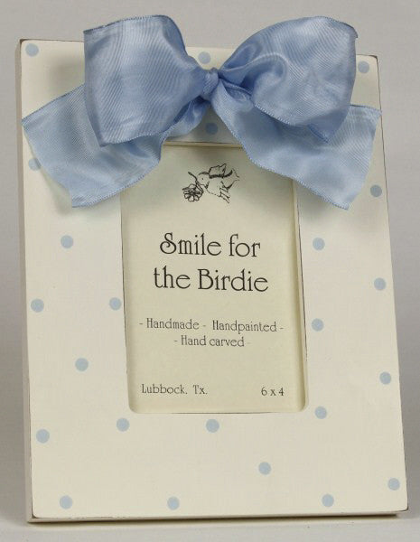 Smile for the Birdie Polka Dot Frame in Blue