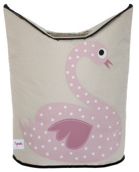 3 Sprouts Laundry Hamper- Swan