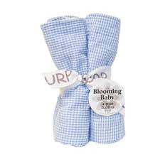 Trend Lab Burp Cloth Set in Blue Gingham