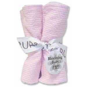 Trend Lab Burp Cloth Set in Pink Gingham