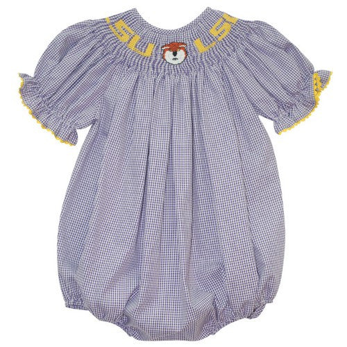 Vive la Fete LSU Smocked Bubble- New Tiger Smocking