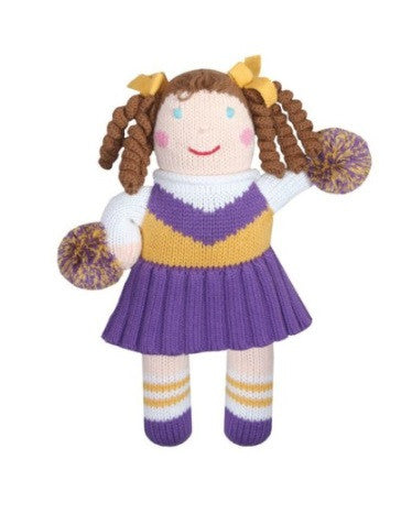 Zubels Cheerleader in Purple/Gold