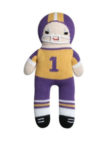 Zubels Football Player in Purple/Gold