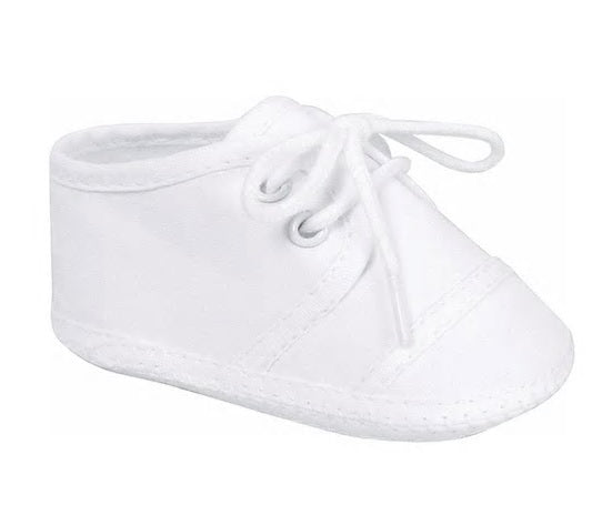 White Broadcloth Oxford Shoe