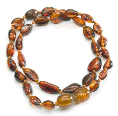 Cherished Moments Amber Necklace in Light Cherry- Unpolished
