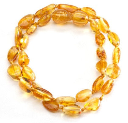 Cherished Moments Amber Necklace in Honey- Unpolished