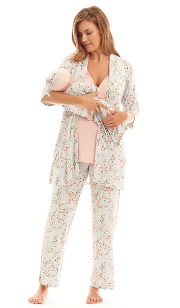 Everly Grey 5 Piece Gift Set in Cloud Blue Floral
