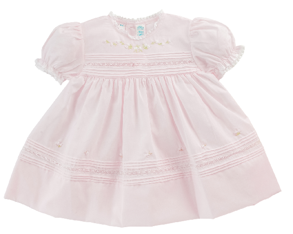 Feltman Brothers Girl's Floral Bullions and Lace Dress in Pink