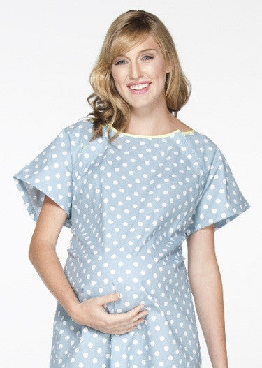 Gownies Hospital Gown in Blue Dot