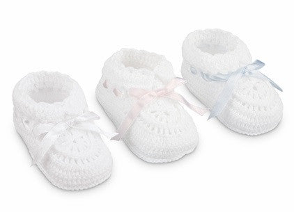 Jefferies Crocheted Booties- Classic