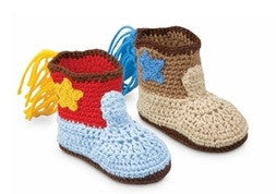 Jefferies Crocheted Booties Cowboy Boots