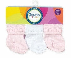 Jefferies 6 Pack Socks in Pink