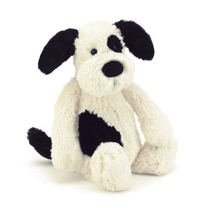 Jellycat Bashful Puppy Black and White