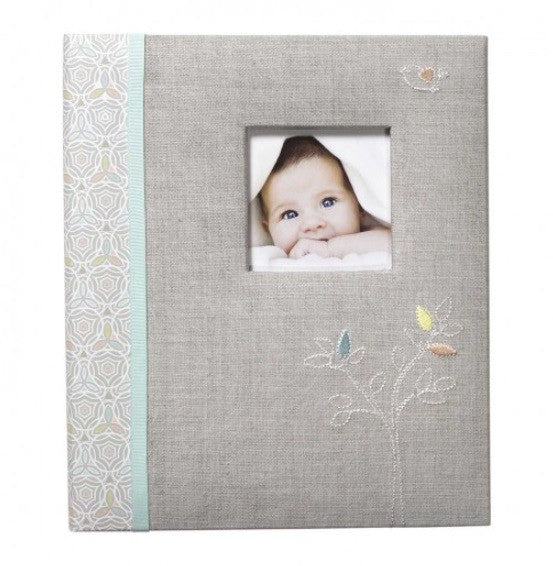 CR Gibson Baby Book in Linen Tree