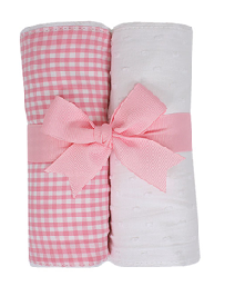 3 Marthas 2 Burp Set in Pink Gingham