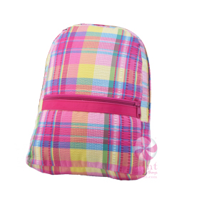 Oh Mint! Backpack in Popsicle Plaid